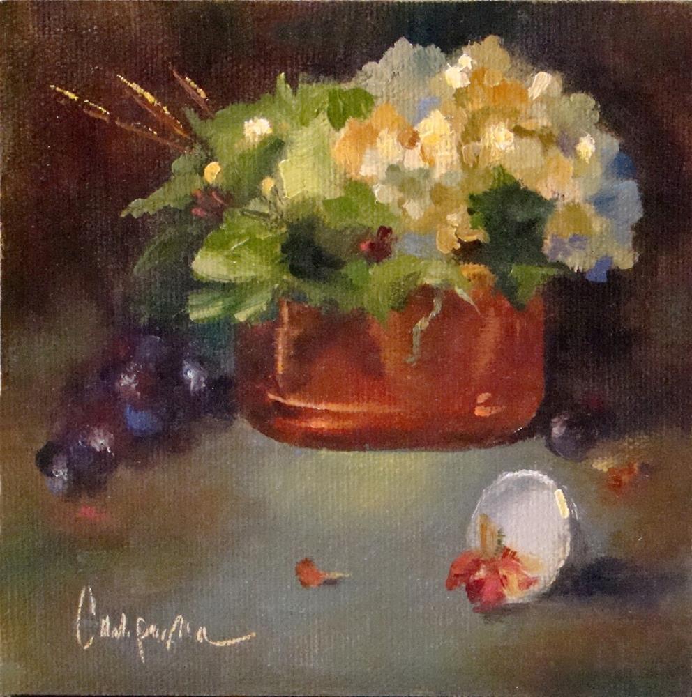 """A Little Mantel Piece - Oil Painting"" original fine art by Roseanne Campagna"