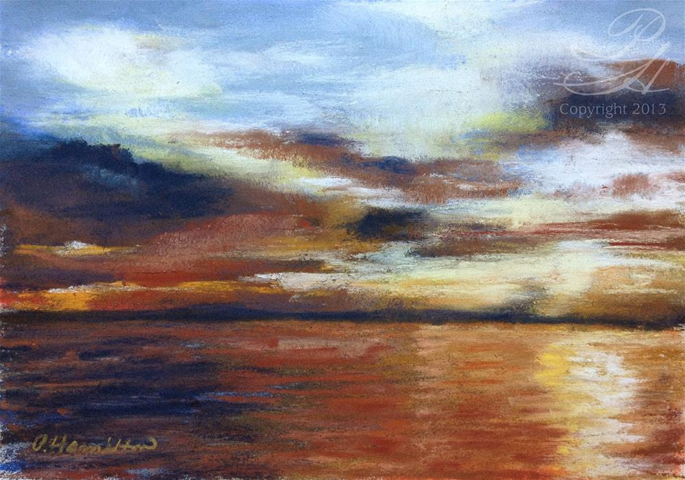 """Seattle Sunset"" original fine art by Pamela Hamilton"