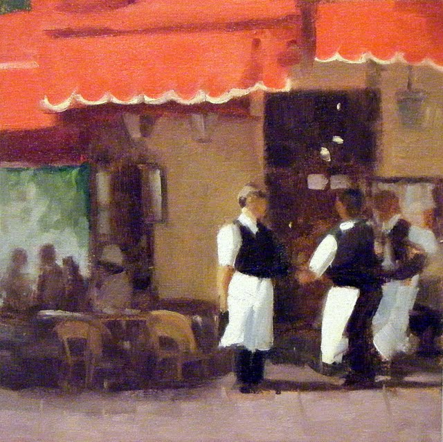 """LA BRASSERIE DE I'ILE SAINT~ LOUIS, PARIS"" original fine art by Helen Cooper"