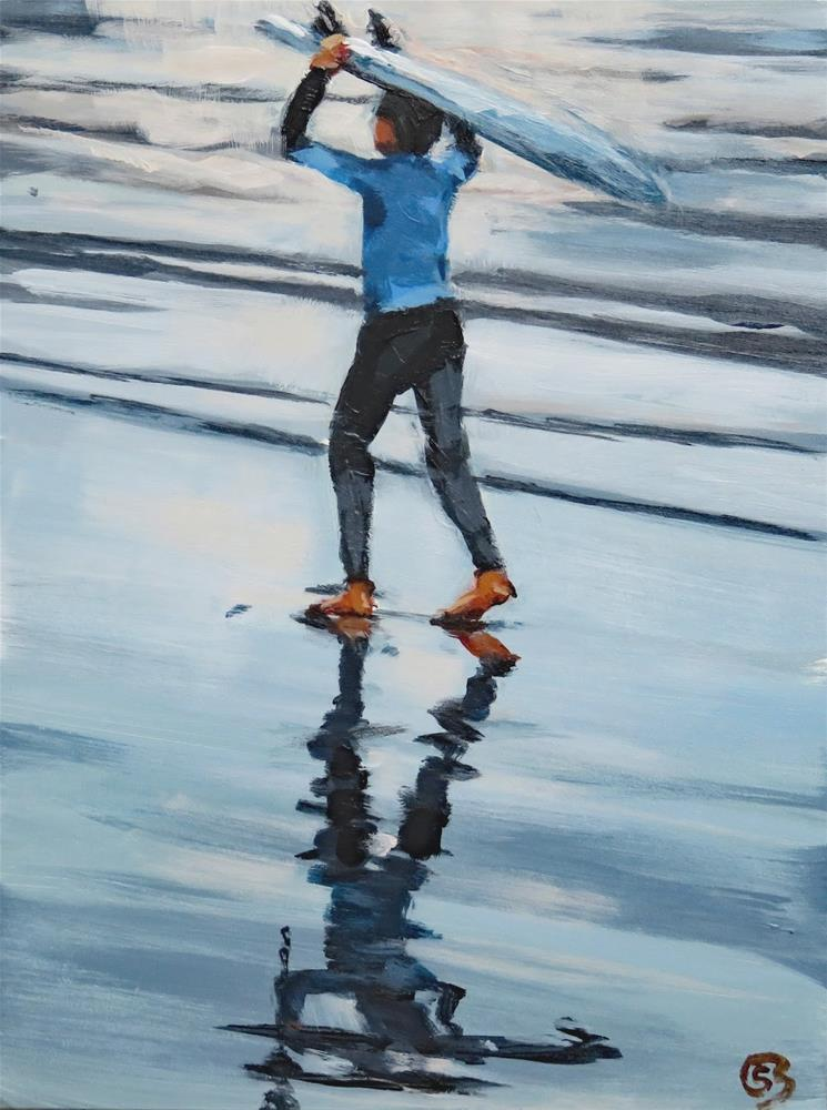 """Surfer Boy"" original fine art by Shari Buelt"
