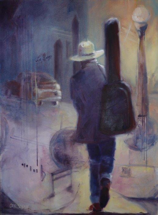 """""""Night Shift"""" original fine art by Carolynn Doan"""