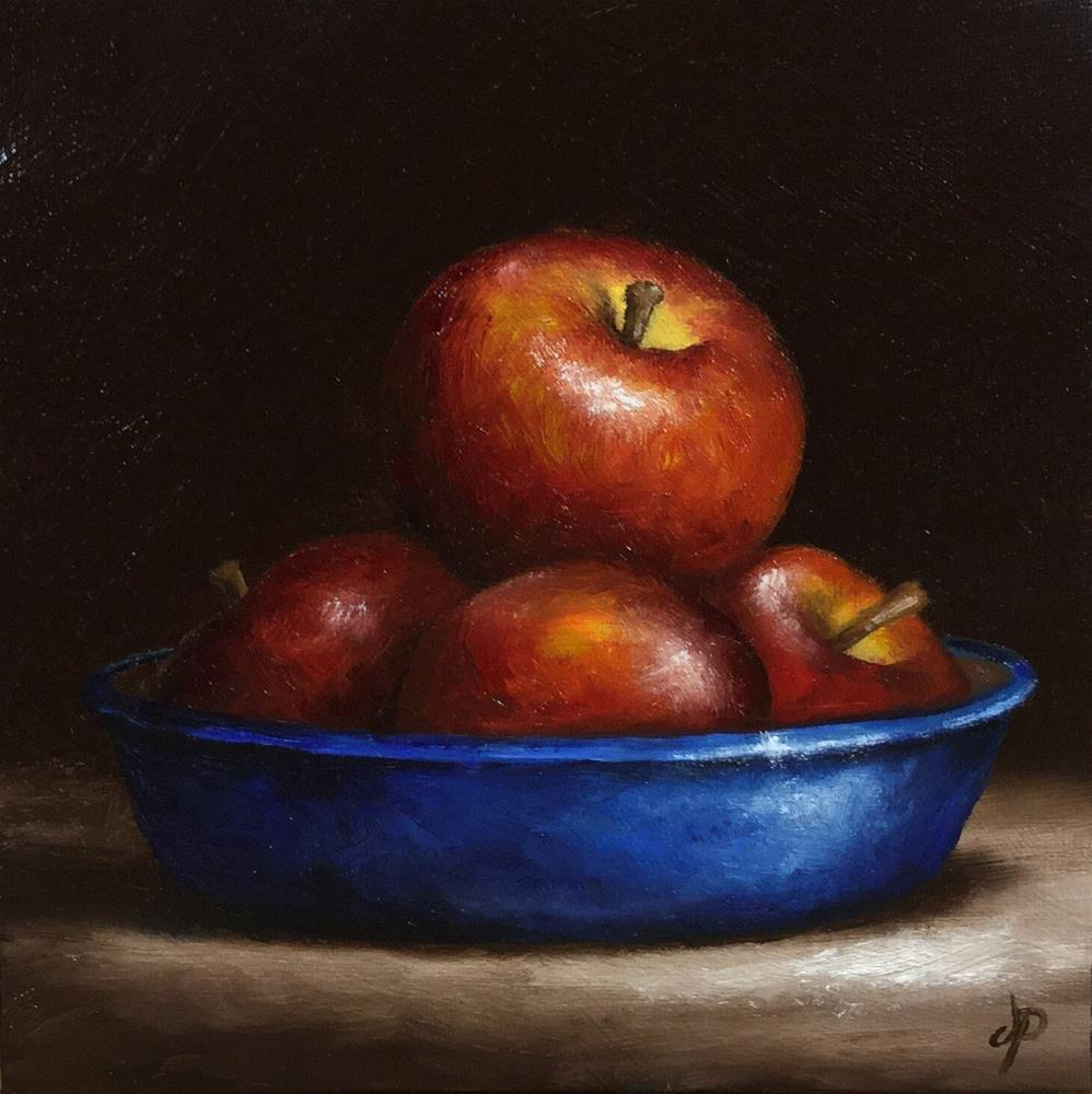 """Bowl of apples"" original fine art by Jane Palmer"