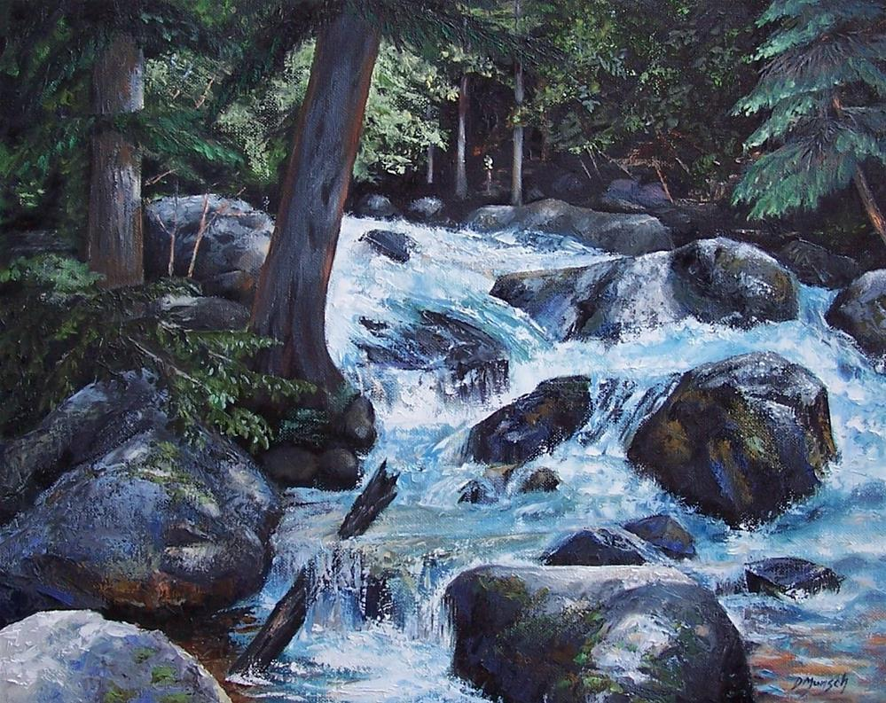 """Hidden Waterfall 2"" original fine art by Donna Munsch"