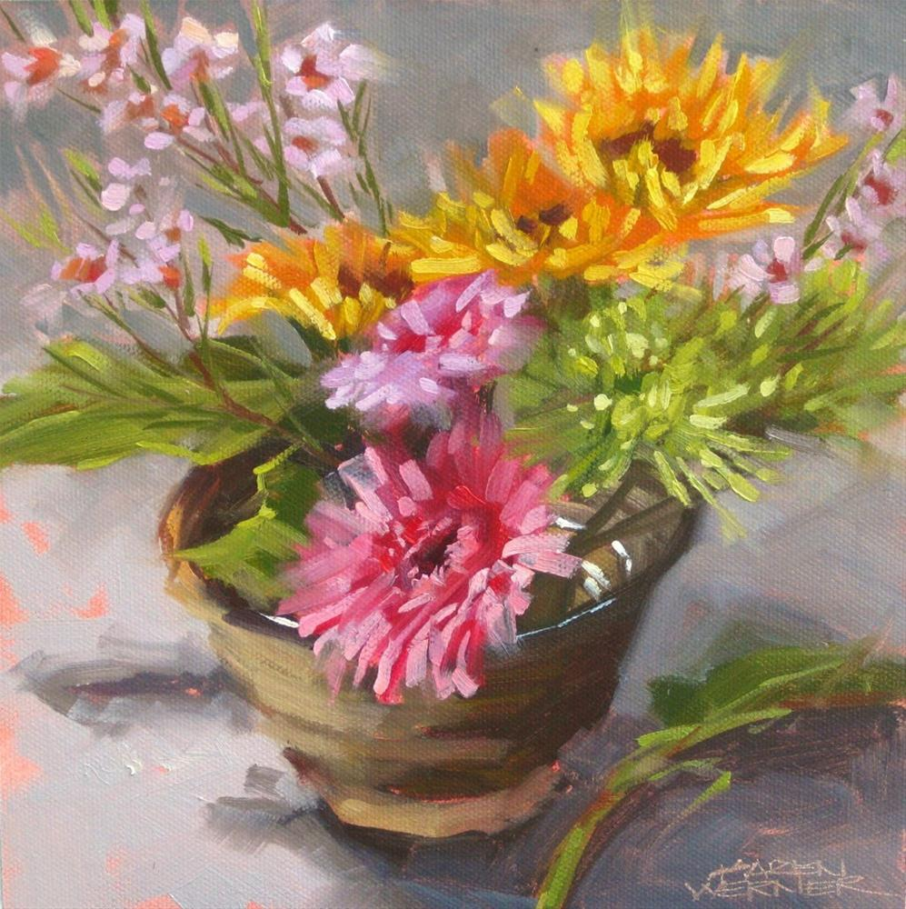 """Floral Bowl 2"" original fine art by Karen Werner"
