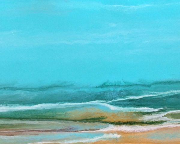 """Abstract Seascape Painting Tropical Dreams-Study #3 by Colorado Contemporary Artist Kimberly Conra"" original fine art by Kimberly Conrad"