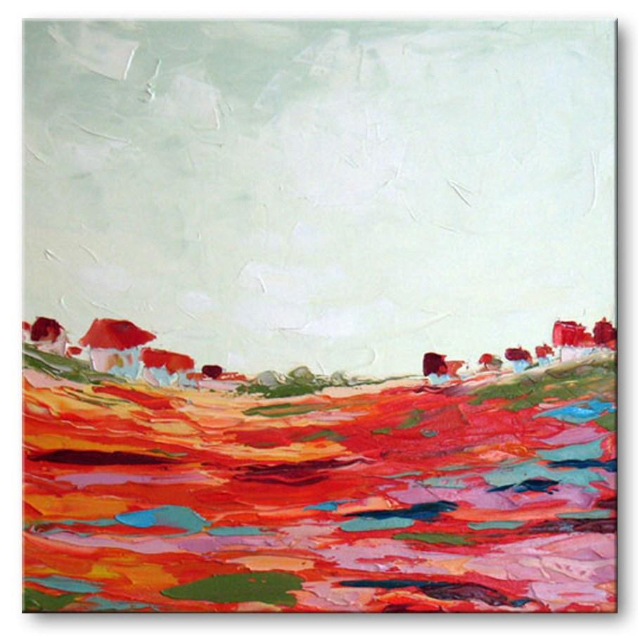 """Dairy Valley"" original fine art by Elena Lunetskaya"