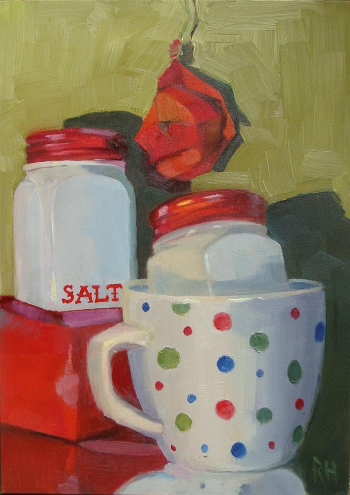 """Red Salt and Pepper"" original fine art by Rebecca Helton"