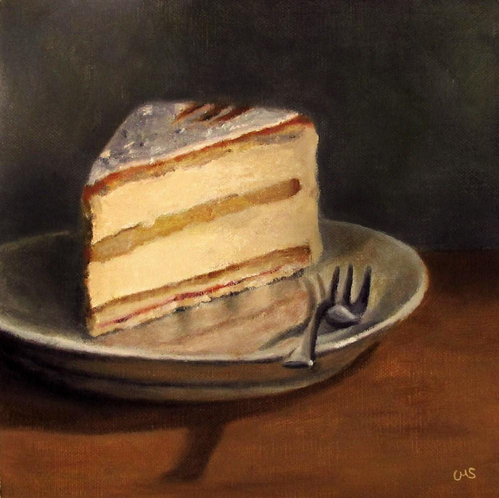 """""""Cheese Cream Cake"""" original fine art by Ulrike Miesen-Schuermann"""