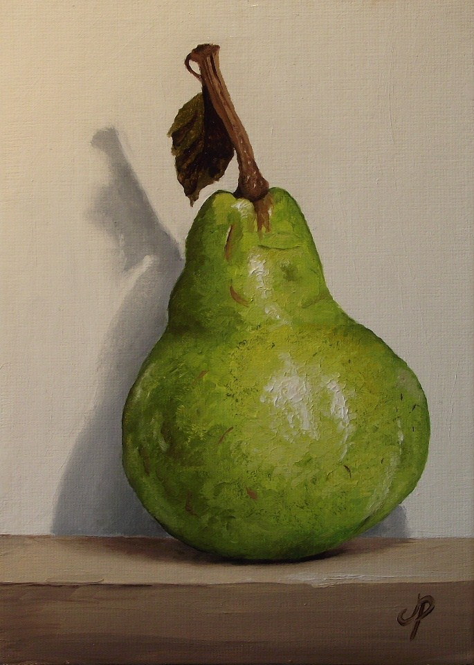 """Packham Pear #2"" original fine art by Jane Palmer"