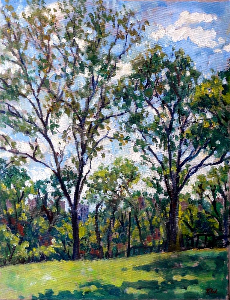 """Trees in Isham Park, NYC"" original fine art by Thor Wickstrom"