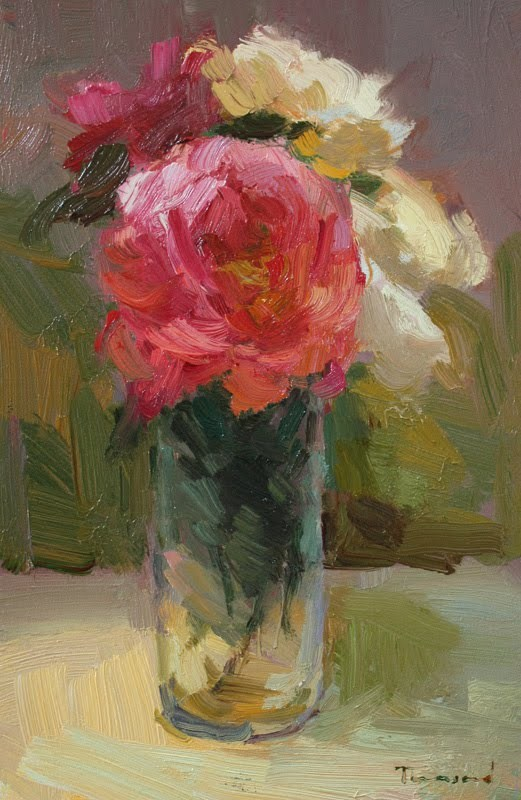 """Roses in Glass"" original fine art by Kathryn Townsend"