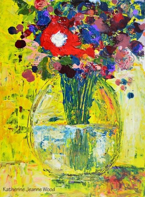 """Floral Series No 50"" original fine art by Katie Jeanne Wood"