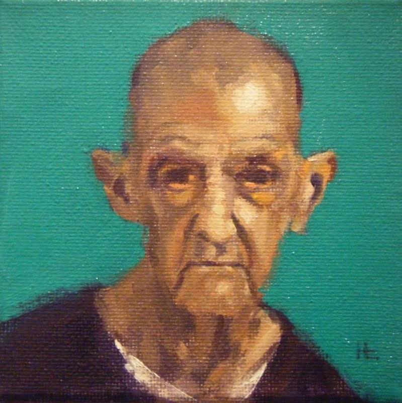 """""""FACE-IT   #1"""" original fine art by Helen Cooper"""