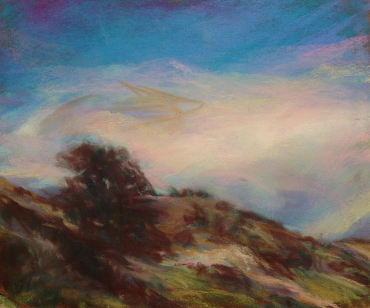 """THE RIDGE - pastel landscape by Susan Roden"" original fine art by Susan Roden"