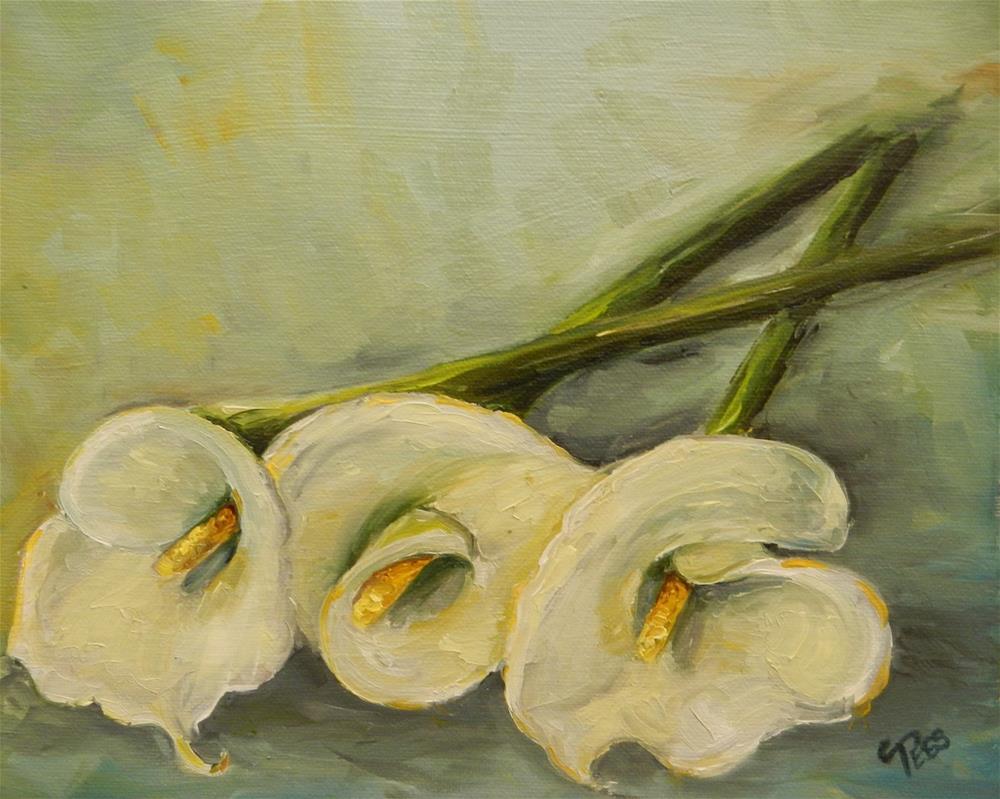 """Calla Lilies 3"" original fine art by Tess Lehman"