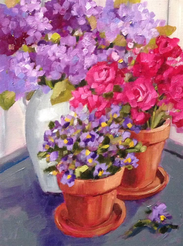 """""""April Applause"""" original fine art by Libby Anderson"""