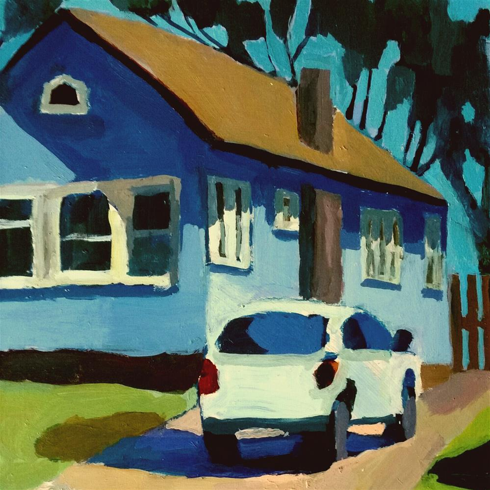 """Little House on Brown St."" original fine art by Liz Maynes"