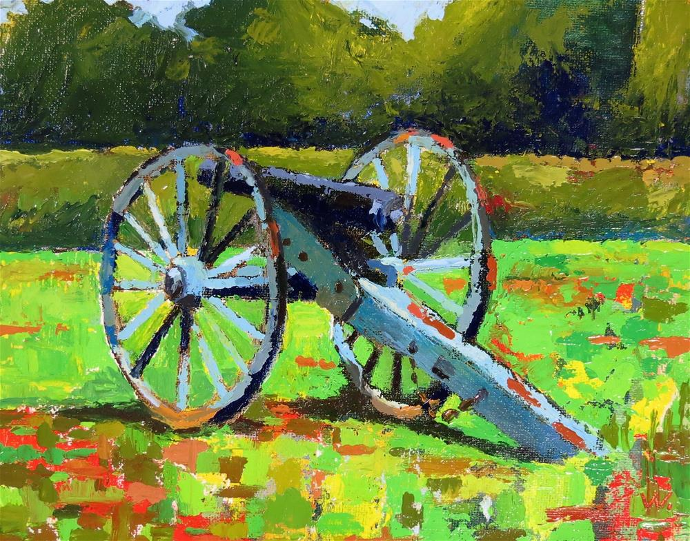 """Chancellorsville Battlefield FXBG"" original fine art by Joan Wiberg"