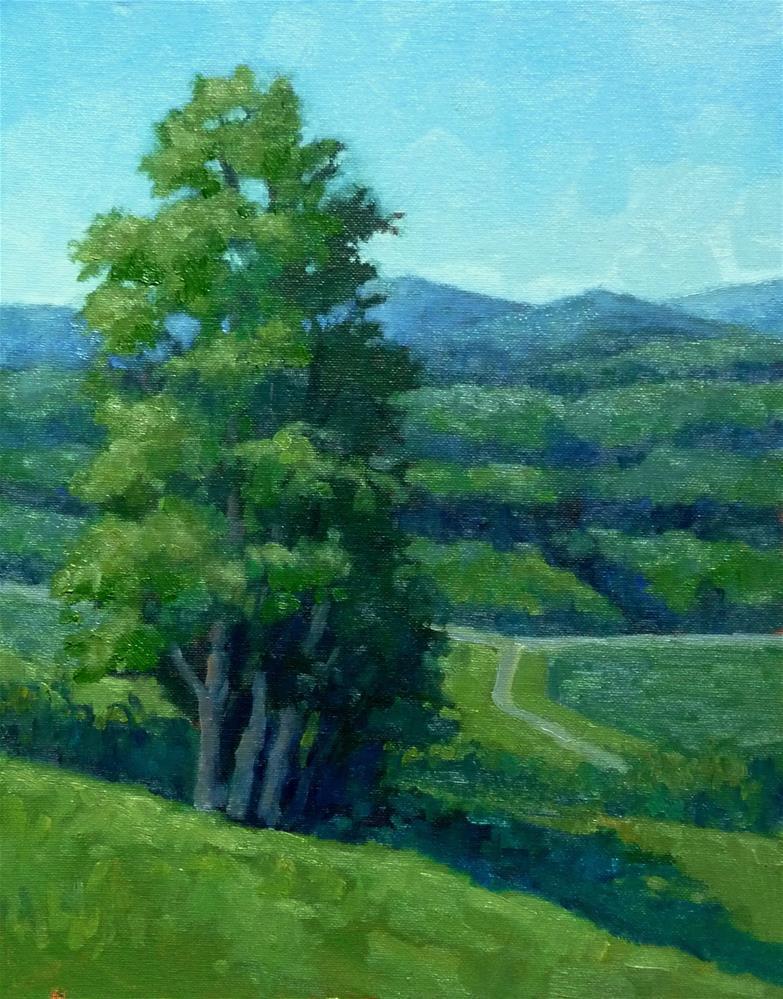 """""""Hills of Green"""" original fine art by Lisa Kyle"""