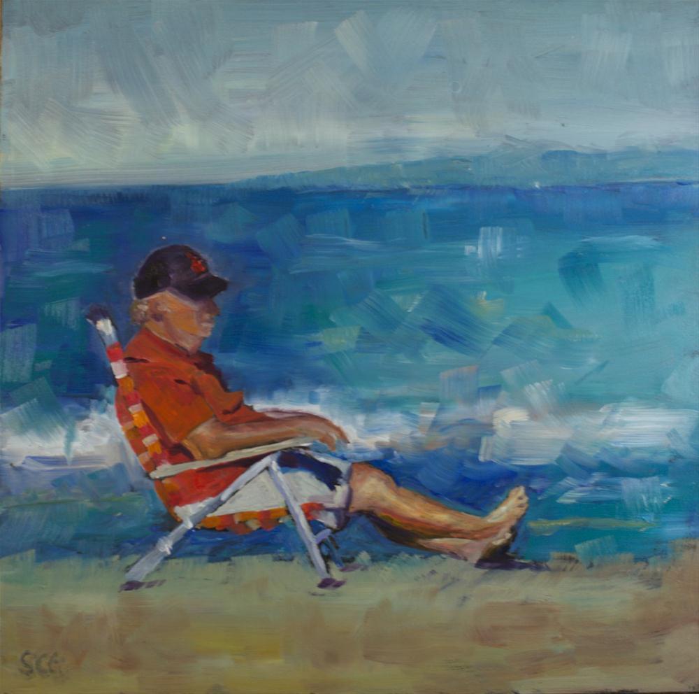 """""""Fall at the Beach"""" original fine art by Sue Churchgrant"""