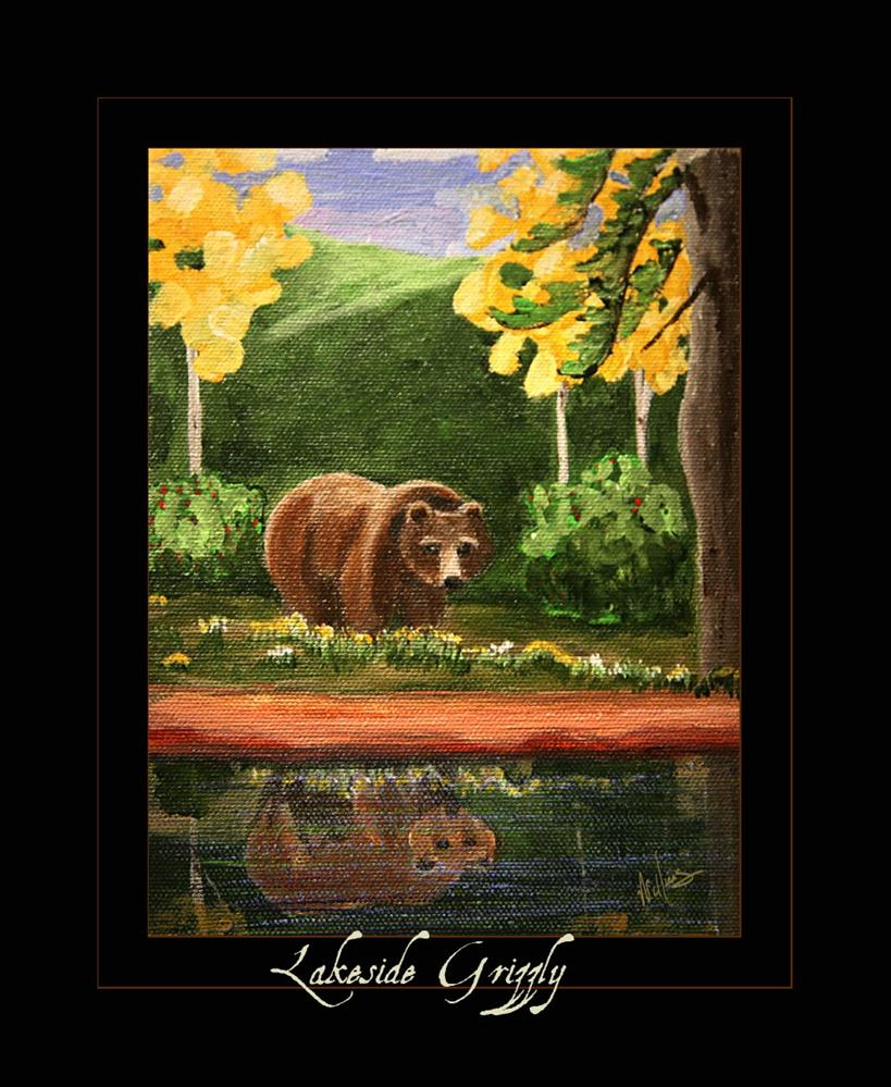 """Lakeside Grizzly"" original fine art by Sunny Williams"