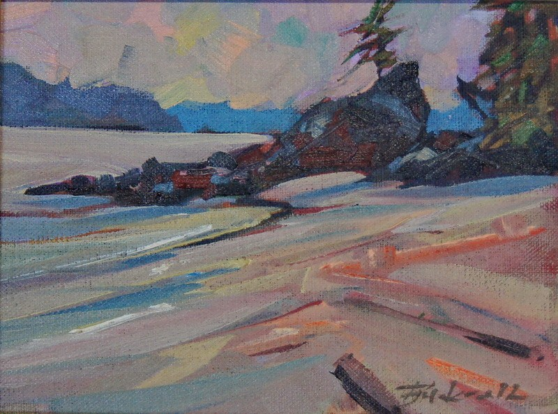 """Bradey Beach"" original fine art by Brian Buckrell"