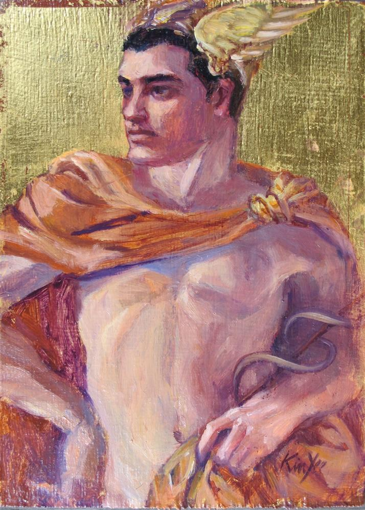 """Robert as Mercury"" original fine art by Myriam Kin-Yee"