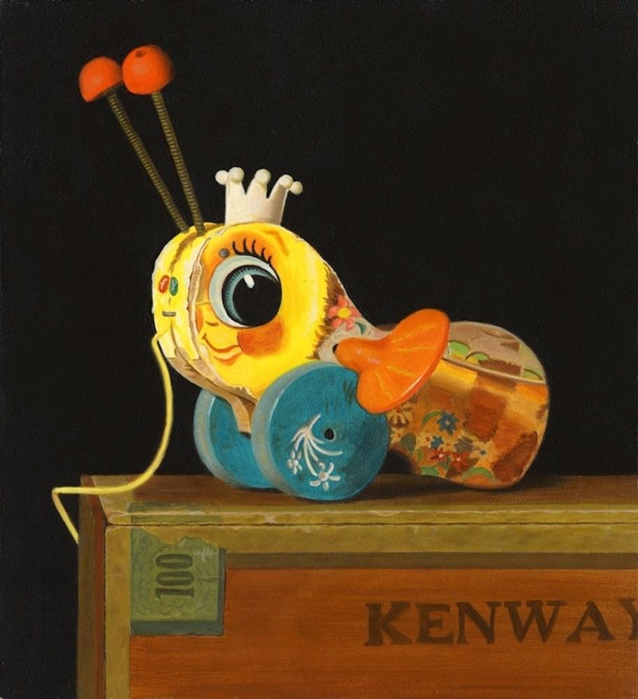 """Bumblebee"" original fine art by Susan Fern"
