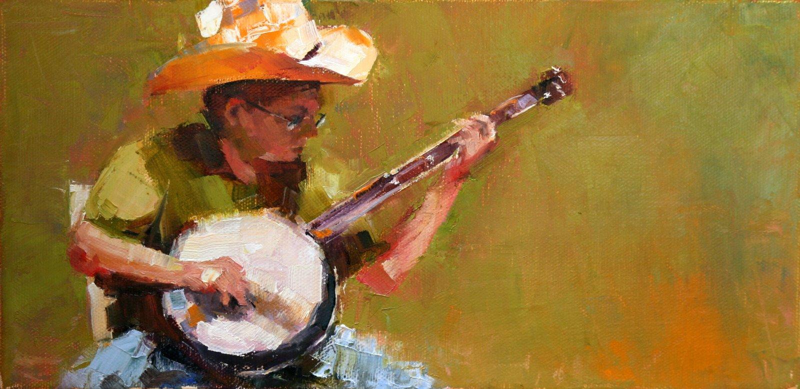 """picking"" original fine art by Carol Carmichael"