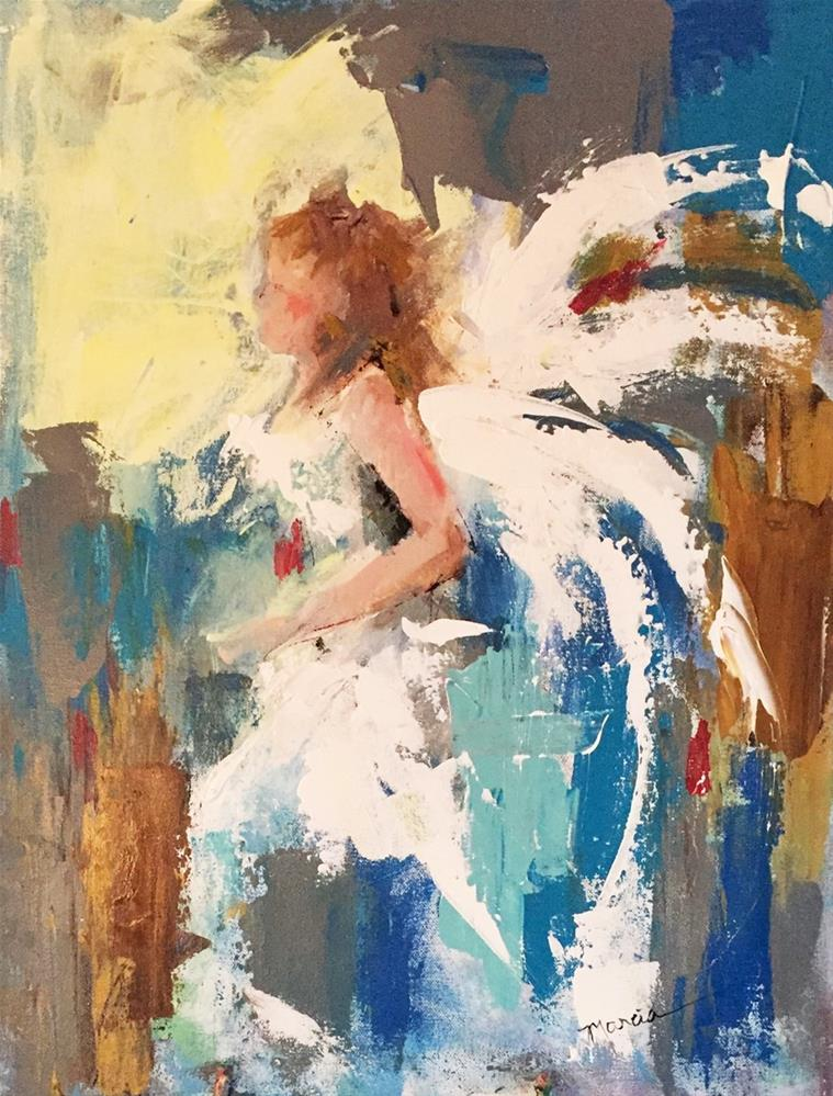 """Angel Leading Into The Light"" original fine art by Marcia Hodges"