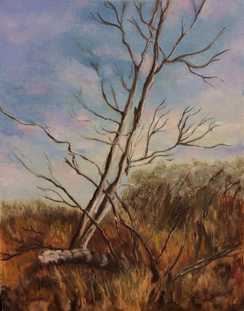 """Lonesome Tree"" original fine art by Charlotte Lough"