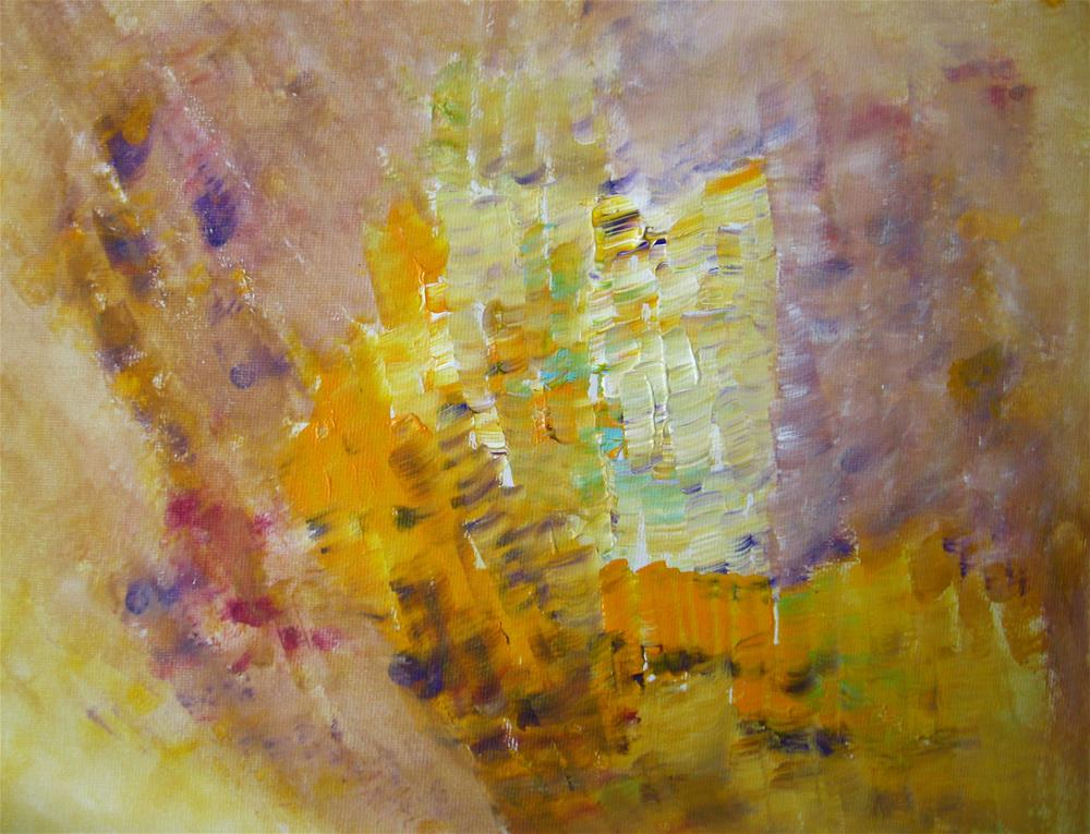 """Meadow Flowers Abstract"" original fine art by Alina Frent"