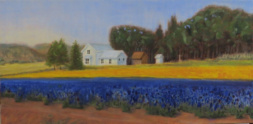 """Farm in Bloom"" original fine art by Richard Kiehn"