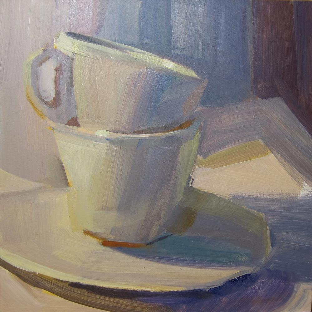 """""""White on White"""" original fine art by Patti Mollica"""