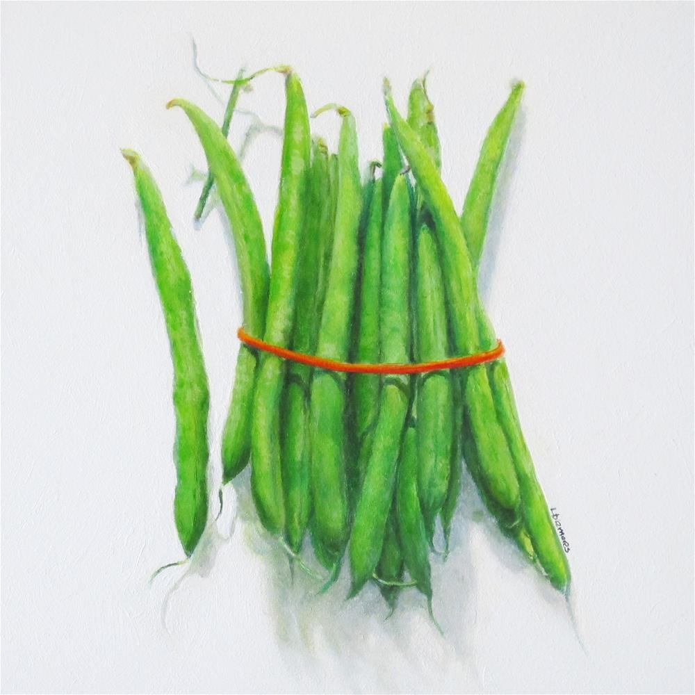 """Green Bean Gathering"" original fine art by Linda Demers"