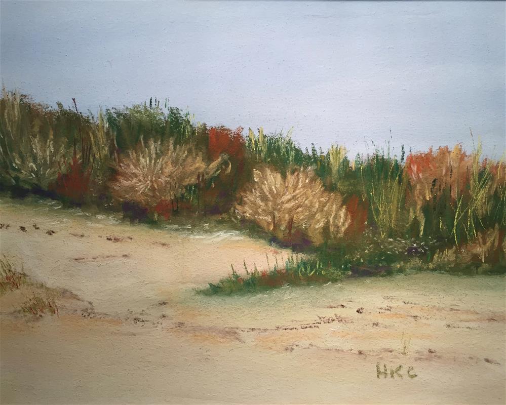 """A Study of Sand Dunes # 2 Galveston"" original fine art by Howard Clark"