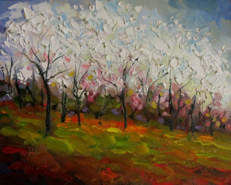 """#139  RITES OF SPRING"" original fine art by Dee Sanchez"