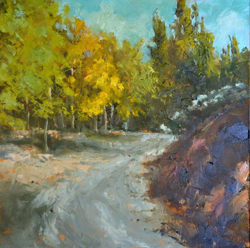 """The Road Less Traveled"" original fine art by Dorothy Redland"