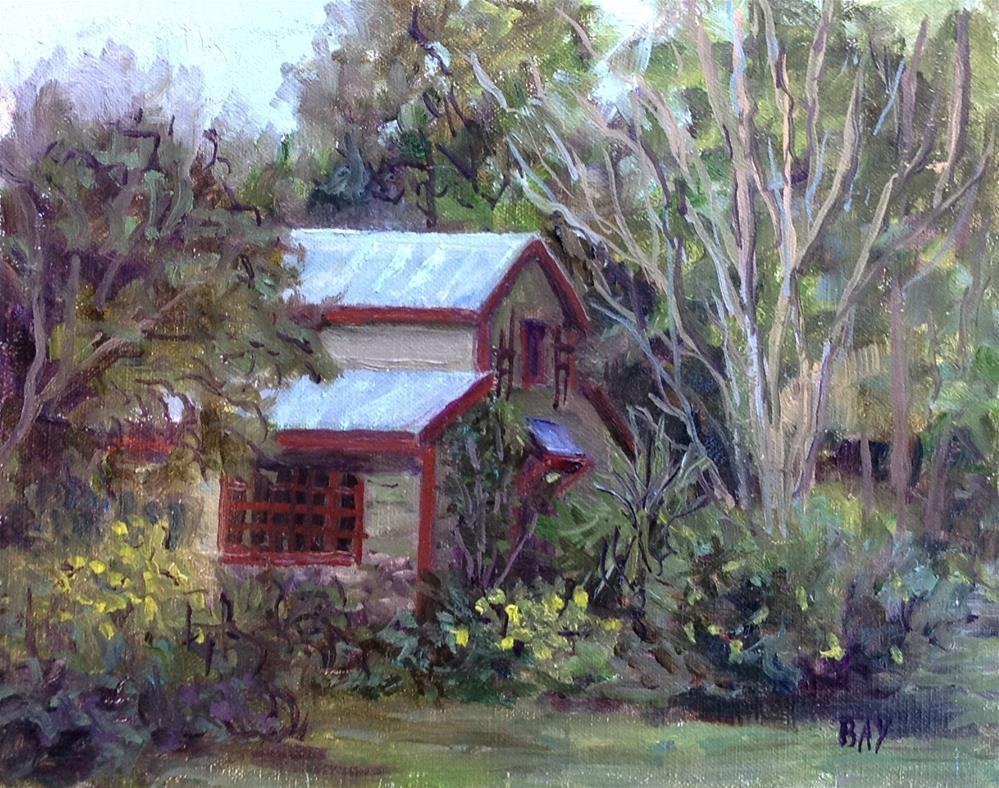 """Guest House - Moore Farms Botanical Gardens"" original fine art by barbara yongue"