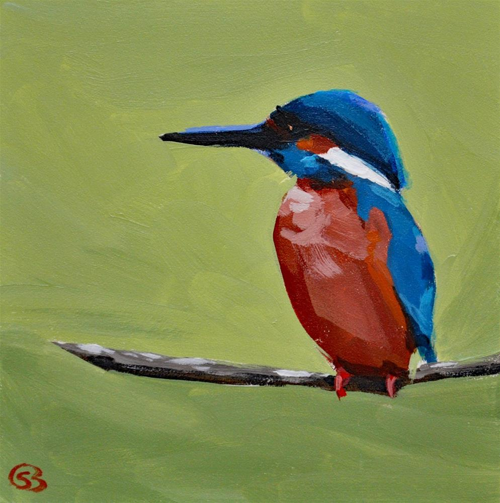 """Kingfisher"" original fine art by Shari Buelt"