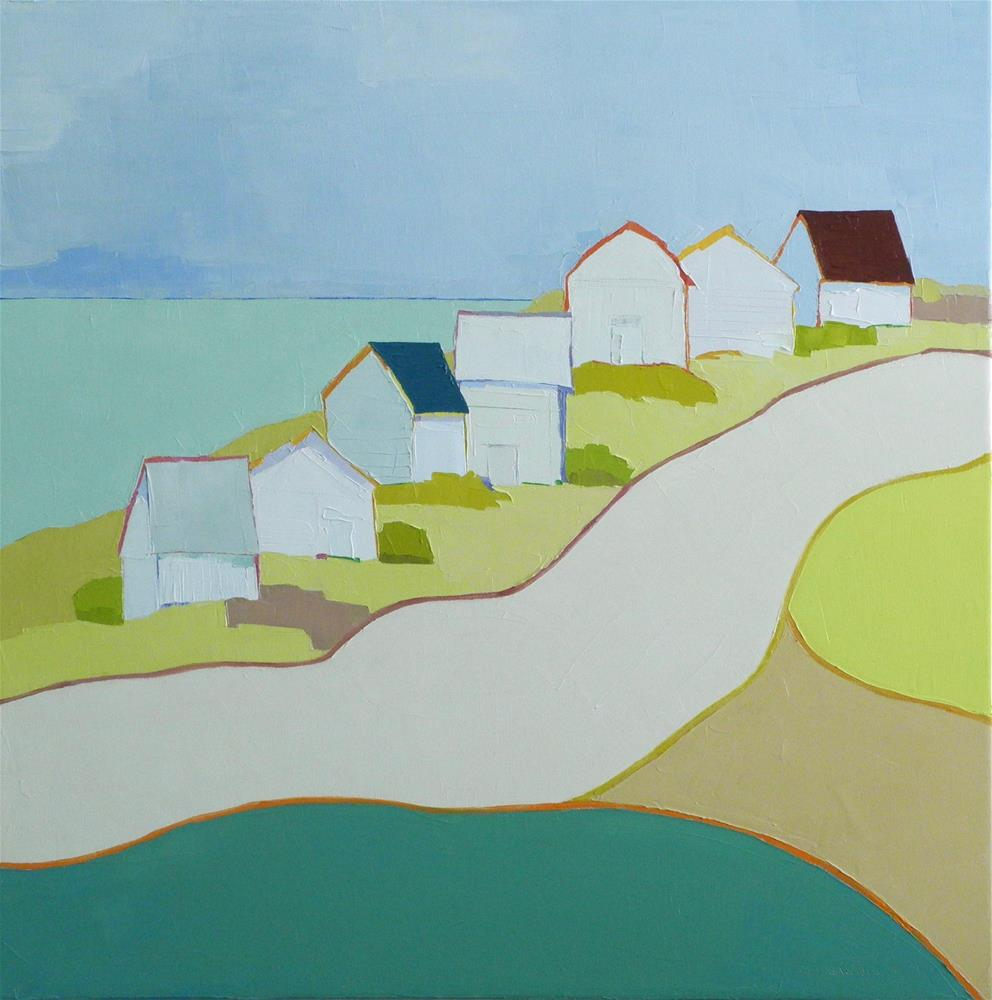 """""""Beach Houses"""" original fine art by Donna Walker"""