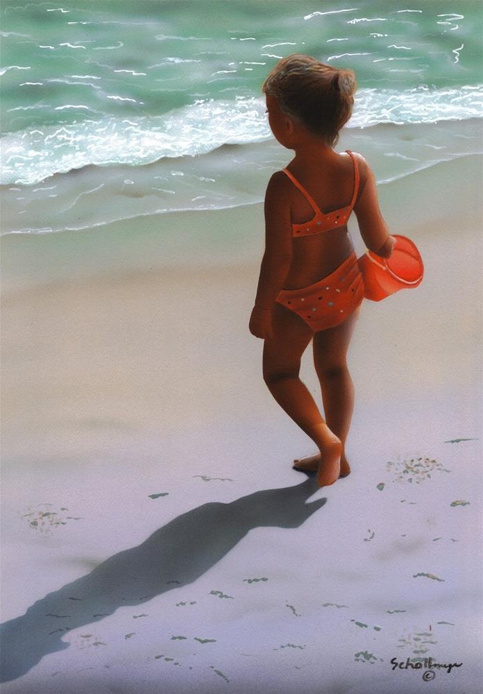 """Beach Fun"" original fine art by Fred Schollmeyer"