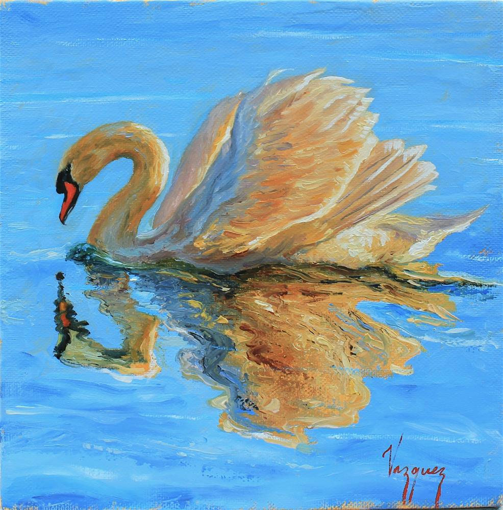 """Golden reflection"" original fine art by Marco Vazquez"