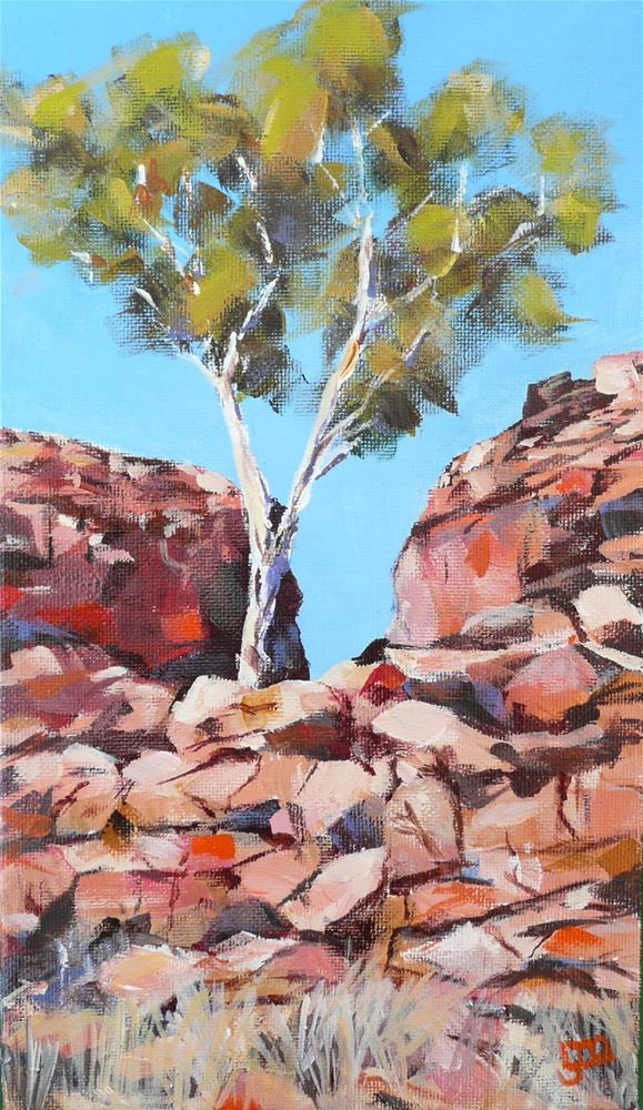 """Amongst The Rocks"" original fine art by Leanne Owen"