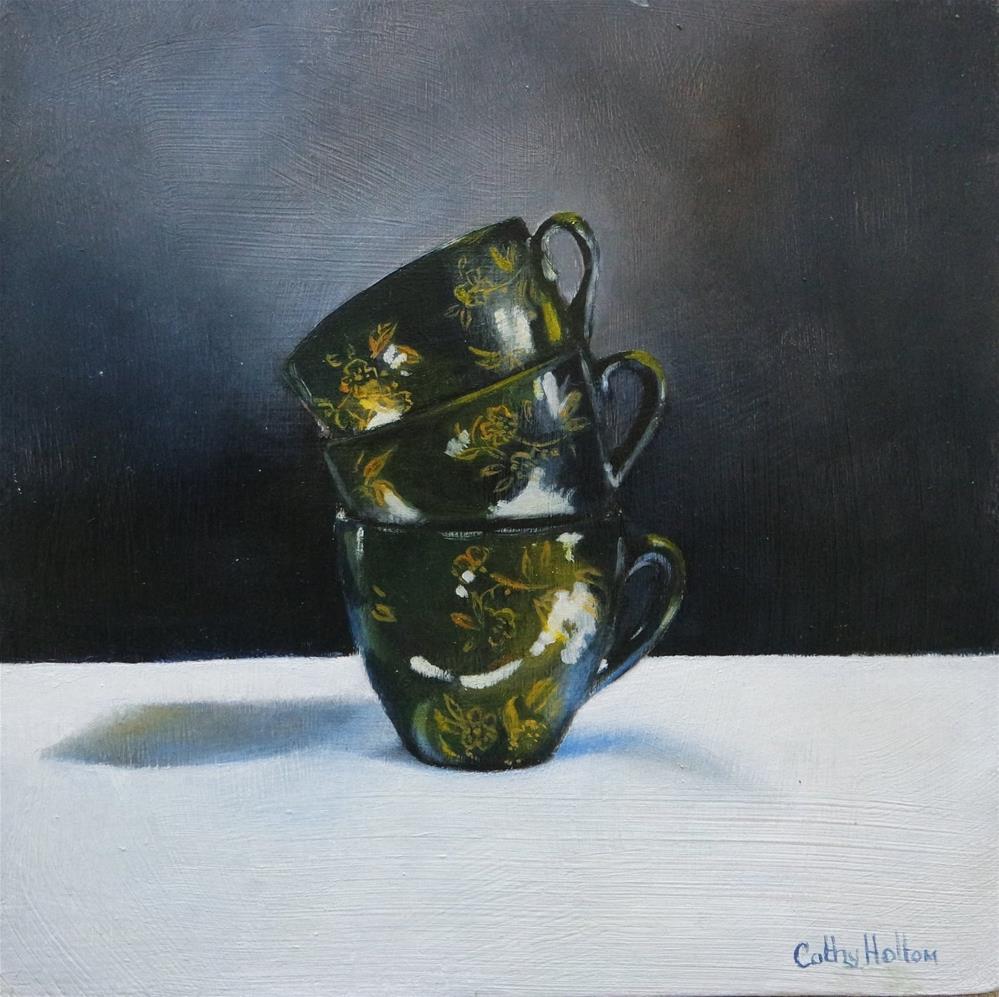 """Black Coffee"" original fine art by Cathy Holtom"