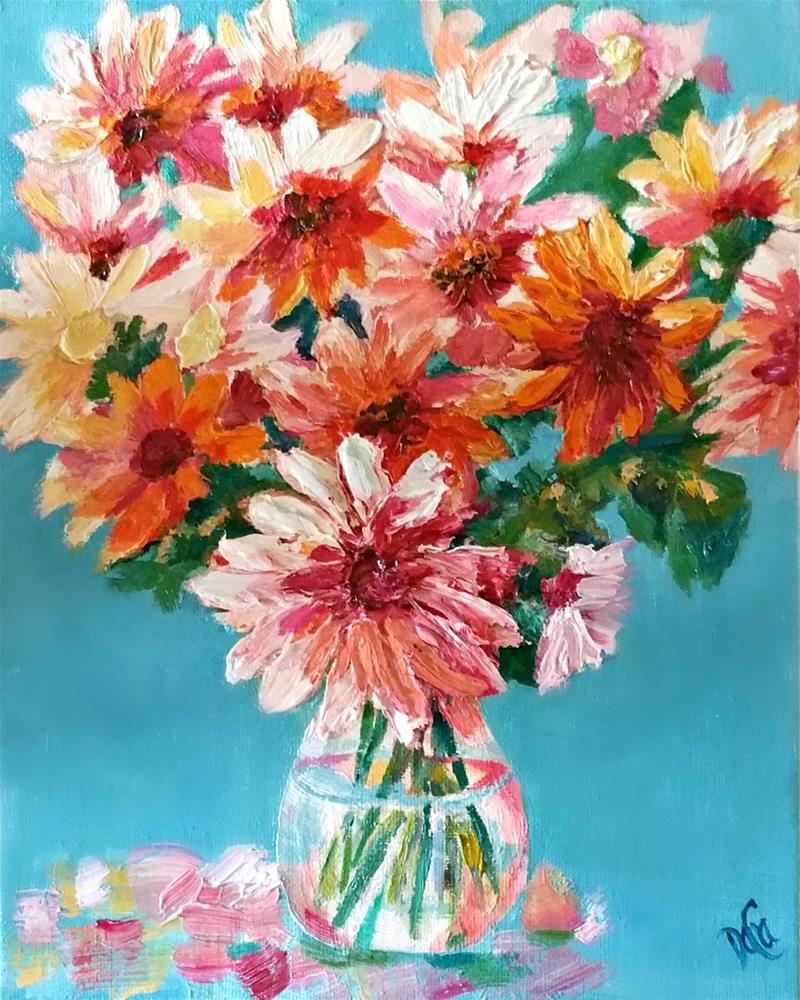 """""""Cheers Flowers"""" original fine art by Dana C"""
