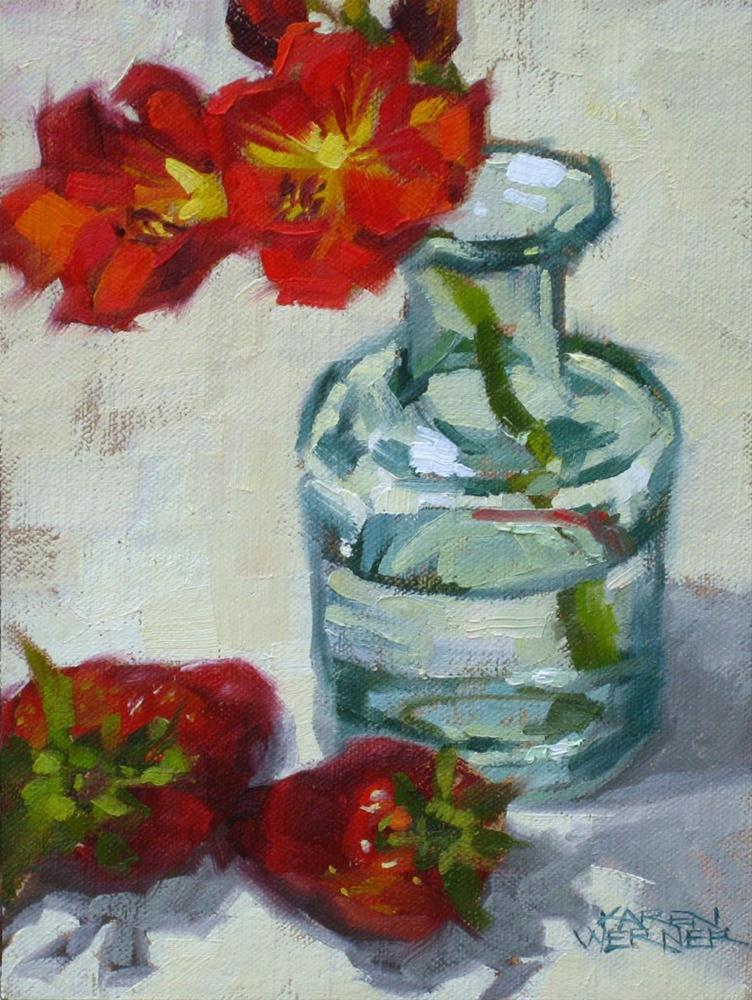 """Reds With Glass"" original fine art by Karen Werner"