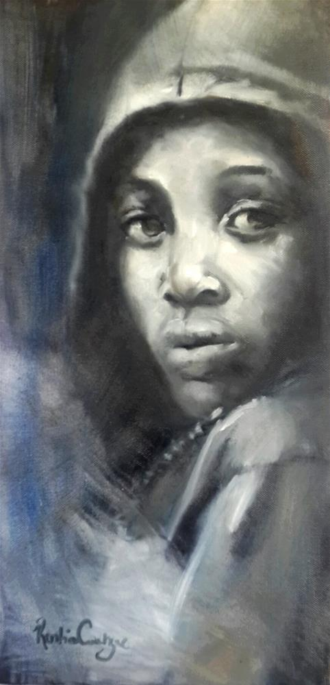 """Against the cold"" original fine art by Rentia Coetzee"