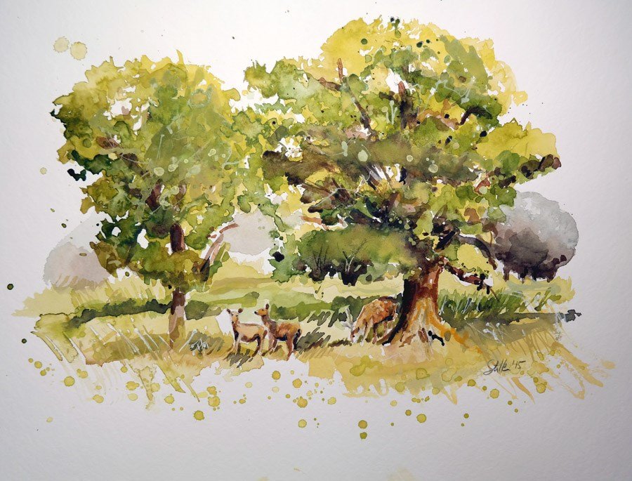 """1565 Tree Study"" original fine art by Dietmar Stiller"
