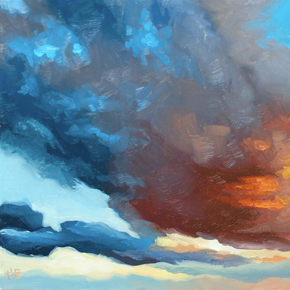 """Looming"" original fine art by Heather Bullach"
